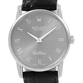 Rolex Cellini Classic Slate Dial 18k White Gold Mens Watch 5116
