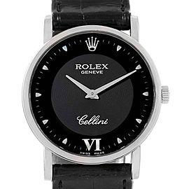 Rolex Cellini Classic White Gold Black Dial Unisex Watch 5115 Unworn