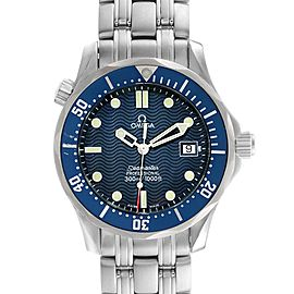 Omega Seamaster Bond 36 Midsize Blue Dial Watch 2561.80.00 Box Card