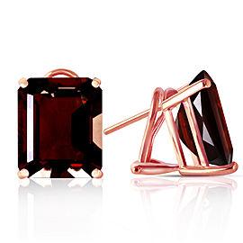 14 CTW 14K Solid Rose Gold Octagon Garnet Earrings