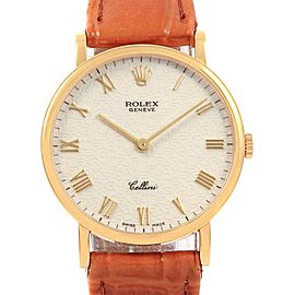 Rolex Cellini Classic Yellow Gold Anniversary Dial Watch 5112 Box Papers