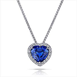 David Gross 18K White Gold Sapphire Necklace