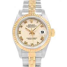 Rolex Datejust 26mm Steel Yellow Gold Ladies Watch 69173 Box Papers