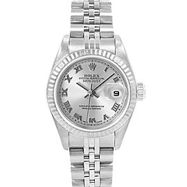Rolex Datejust 26 Steel White Gold Ladies Watch 79174 Box Papers