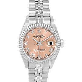 Rolex Datejust 26 Ladies Steel White Gold Watch 69174 Box Papers
