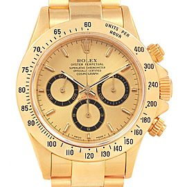 Rolex Cosmograph Daytona Yellow Gold Chronograph Mens Watch 16528