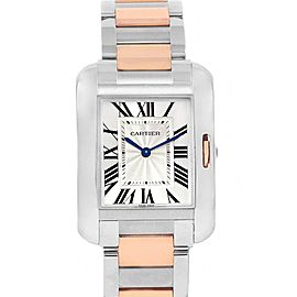 Cartier Tank Anglaise Medium Steel Rose Gold Watch WT100032
