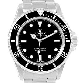 Rolex Submariner 40 mm No-Date 2-Liner Mens Watch 14060 Box Papers
