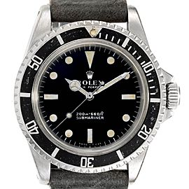 Rolex Submariner Vintage Stainless Steel Automatic Mens Watch 5513