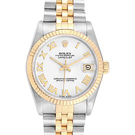 Rolex Datejust 31 Midsize Steel Yellow Gold White Dial Ladies Watch 68273
