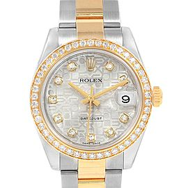 Rolex Datejust 31 Midsize Steel Yellow Gold Diamond Ladies Watch 178383