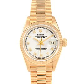 Rolex President Datejust 26 Yellow Gold Ladies Watch 69178 Box