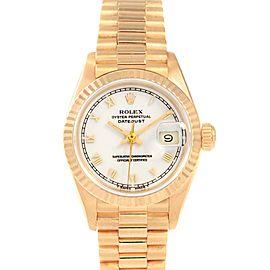 Rolex President Datejust 26 Yellow Gold Ladies Watch 69178 Box