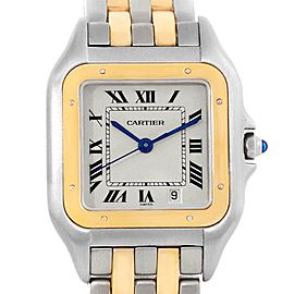 Cartier Panthere Large Steel Yellow Gold Two Row Unisex Watch W25028B8