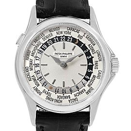 Patek Philippe World Time Automatic White Gold Mens Watch 5110