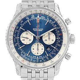 Breitling Navitimer 01 46mm Aurora Blue Dial Mens Watch AB0127 Unworn