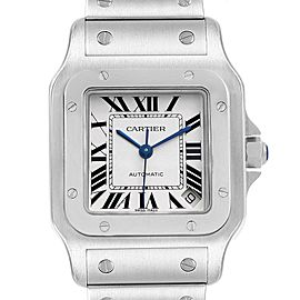 Cartier Santos Galbee XL Automatic Steel Mens Watch W20098D6