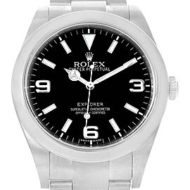 Rolex Explorer I 39 Luminescent Arabic Numerals Steel Mens Watch 214270
