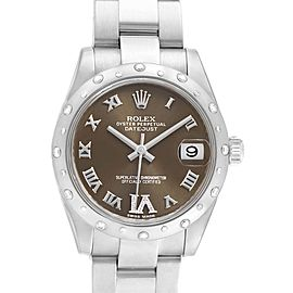 Rolex Datejust 31 Midsize Diamond Steel Ladies Watch 178344 Box Card