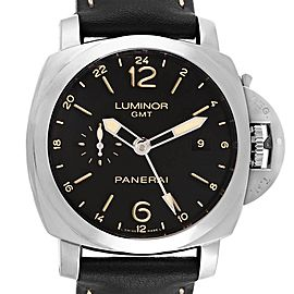 Panerai Luminor 1950 3 Days GMT 24H Acciaio 44mm Watch PAM531 PAM00531