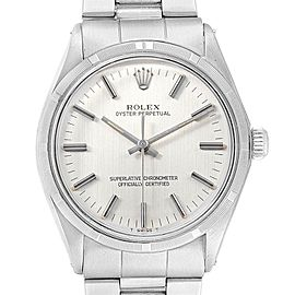 Rolex Oyster Perpetual Silver Dial Vintage Steel Mens Watch 1003