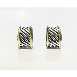 David Yurman 14K & Sterling Cable Classics Cigar Band Stud Earrings
