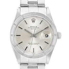 Rolex Date Vintage White Dial Stainless Steel Mens Watch 1501