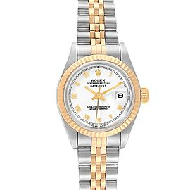 Rolex Datejust 26mm Steel Yellow Gold White Dial Ladies Watch 69173