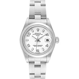 Rolex Date 26 White Dial Oyster Bracelet Steel Ladies Watch 79160