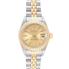 Rolex Datejust 26 Steel Yellow Gold Tapestry Dial Ladies Watch 69173