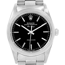 Rolex Air King 34mm Black Dial Domed Bezel Mens Watch 14000