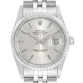 Rolex Datejust Vintage Silver Dial Steel Mens Watch 16030
