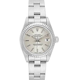 Rolex Datejust 26mm Steel White Gold Silver Dial Ladies Watch 69174