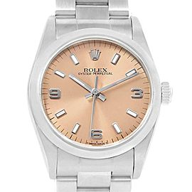 Rolex Midsize 31mm Salmon Dial Automatic Steel Ladies Watch 67480