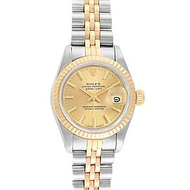 Rolex Datejust 26 Steel Yellow Gold Jubilee Ladies Women Watch 69173