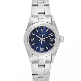 Rolex Oyster Perpetual Nondate Steel Blue Dial Ladies Watch 67180