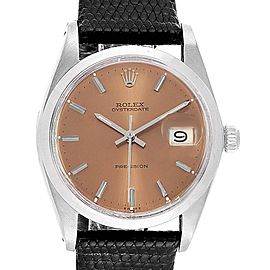 Rolex OysterDate Precision Bronze Dial Steel Vintage Mens Watch 6694