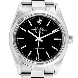 Rolex Air King 34 Black Dial Stainless Steel Mens Watch 14000