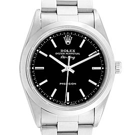 Rolex Air King 34 Black Dial Stainless Steel Mens Watch 14000 Box