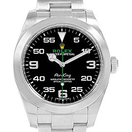 Rolex Oyster Perpetual Air King Black Dial Steel Watch 116900