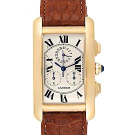 Cartier Tank Francaise Chronoflex Yellow Gold Mens Watch W5000556