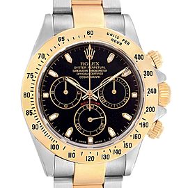 Rolex Daytona Steel Yellow Gold Chronograph Mens Watch 116523