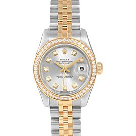 Rolex Datejust 26 Steel Yellow Gold Diamond Ladies Watch 179383