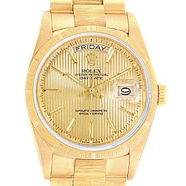 Rolex Day-Date President 36 Yellow Gold Tapestry Dial Mens Watch 18248