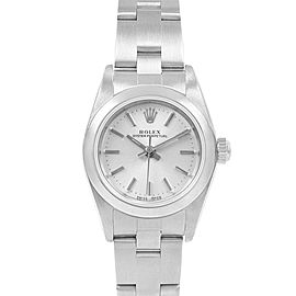 Rolex Oyster Perpetual 24 Nondate Silver Dial Ladies Watch 76080