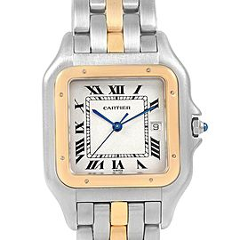 Cartier Panthere Jumbo Steel Yellow Gold One Row Unisex Watch 187957