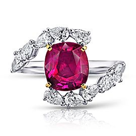 David Gross Platinum Ruby Ring