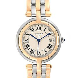 Cartier Panthere Vendome Three Row Steel Yellow Gold Ladies Watch 183984
