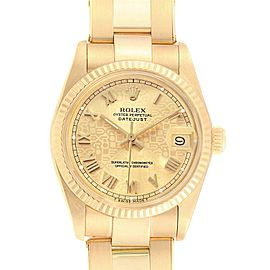 Rolex President Datejust Midsize 31 Yellow Gold Ladies Watch 6827