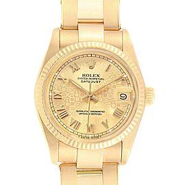 Rolex President Datejust Midsize 31 Yellow Gold Ladies Watch 6827